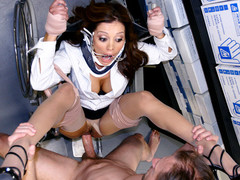 Hawt a-hole Doctor Mother I'd Like To Fuck Francesca Le is giving some physical examinations. This horny cougar Doc is hoping to break the rules and get herself examined by one of her kinky patients. That Guy'll probe her dripping wet muff and check down her face hole to make sure anything is kosher. Dr. Le is about to get a full blown physical. U can cough now Dr. Le...