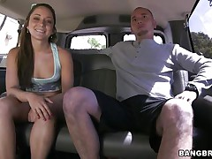 Cutie Remy LaCroix is once again delighting us with her sex drive. This time the hot booty babe takes a ride white the bang bus and receives a hard cock between her juicy lips and in that tight shaved pussy of hers. Look at her working hard for some cum, ridding the man in cowgirl position