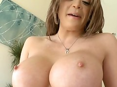 Horny sweetheart with good breasts likes to be double permeated