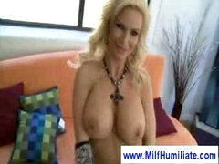 Hot milf loves being punished