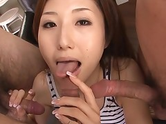 Whore Asian mommy deepthroats big 10-Pounder and her slit fingered