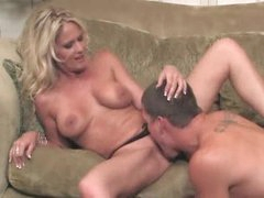 Blonde milf is sizzling hot and taking cock