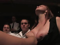 Worthless slut must endure a gruelling public punishment