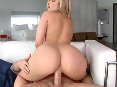 Beauties with great asses suck dicks and bound on 'em so fast
