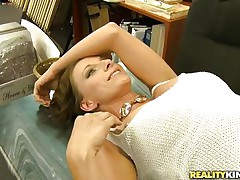 Willow is lonely milf and she works hard in her office. Looks like she has a little vacancy for fun in her life. And this horny guy takes the chance of it. He starts flirting with her and trying to seduce her into a hardcore. She looks pretty convinced and there she is lying there and touching herself!