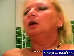 Watch this sexy grandma pounding with a younger guy